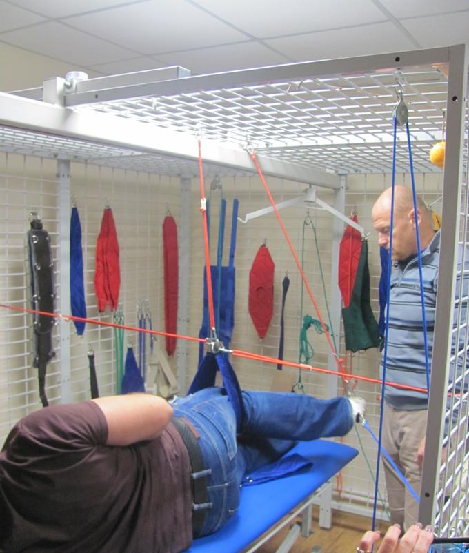 Подвесная терапия позволяет начать тренировки мышечных групп даже при значительных ограничениях движения в вертикальном положении при.