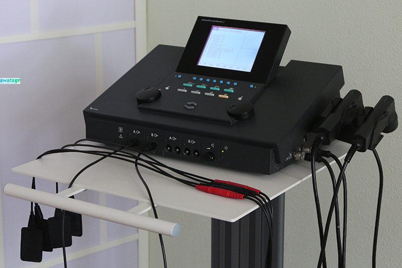 Физиотерапевтический комбайн с набором программ для процедур ЧЭНС и нейромышечной стимуляции.