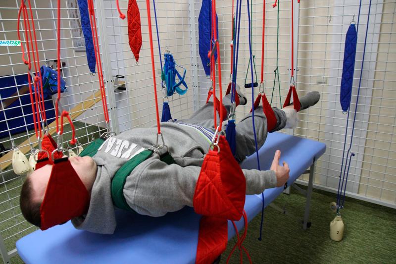 Подвесная терапия в лечении пациентов после травмы позвоночника и спинного мозга.